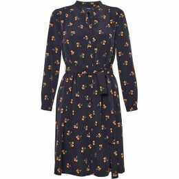 French Connection Hester Drape Belted Shirt Dress