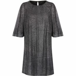 Mela Shimmering Metallic Smock Dress