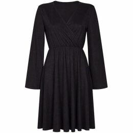 Mela Flared Sleeve Wrap Dress