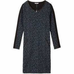 Sandwich Leopard Jacquard Dress