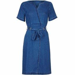Yumi Denim Wrap Dress