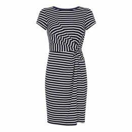 Yumi Striped Ruched Jersey Dress