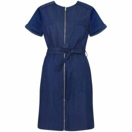 Yumi Zip Front Denim Dress