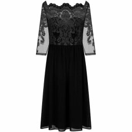 Chi Chi Long Sleeve Baroque Style Tea Dress