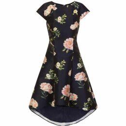 Chi Chi Floral Print Dip Hem Dress