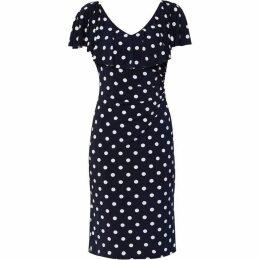 Gina Bacconi Ornella Spot Jersey Dress