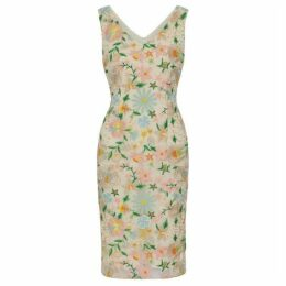 Gina Bacconi Lucile Embroidered Dress