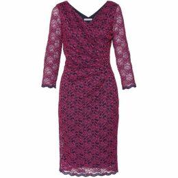 Gina Bacconi Emery Lace Wrap Dress