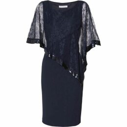 Gina Bacconi Kamila Lace Cape Dress