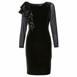 Gina Bacconi Karla Satin Velvet Dress