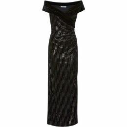 Gina Bacconi Elitsa Sequin Velvet Dress