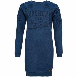 Superdry Luna Broderie Sweat Dress