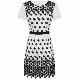 Chi Chi Crochet Monochrome Bodycon Dress