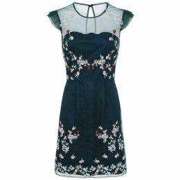 Chi Chi Embroidered Mesh Bodycon Dress