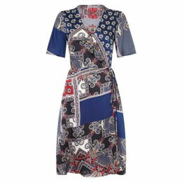 Mela Scarf Print Wrap Dress