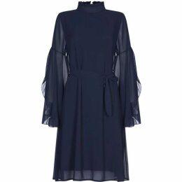 Mela Tie Waist Long Sleeve Shift Dress