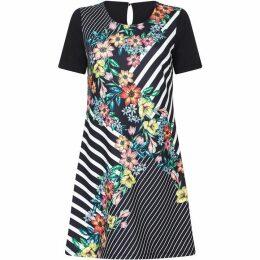 Yumi Floral Stripe Print Tunic Dress