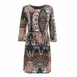Quiz Peacock Print Tunic Dress