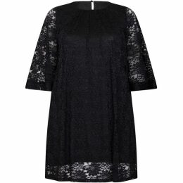 Mela London Curve Floral Lace Plus Size Tunic Dress