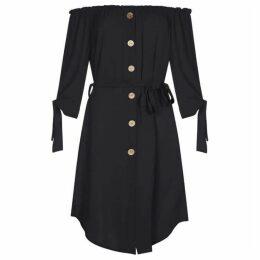 Mela Button Down Bardot Dress