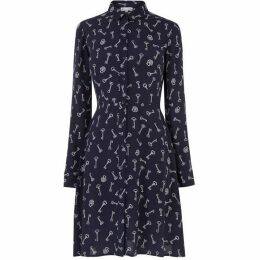 Warehouse Key Print Shirt Dress