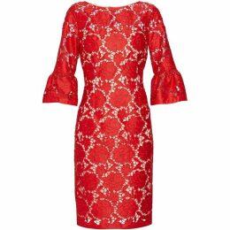 Gina Bacconi Genoveva Embroidered Dress
