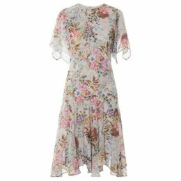 Gina Bacconi Estera Floral Chiffon Dress
