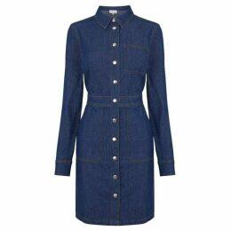 Warehouse Snap Front Pocket Dress