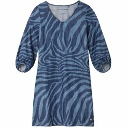 Sandwich Zebra Print Denim Dress