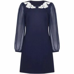 Yumi Applique Flower Detail Tunic Dress
