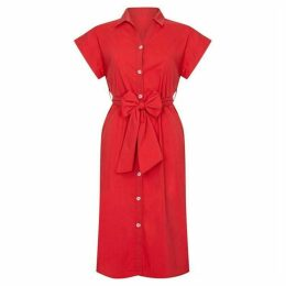 Yumi Utility Shirt Dress With Pockets