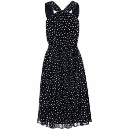 Phase Eight Dotty Flocked Dress
