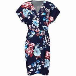 Mela Floral Print V-Neck Wrap Dress