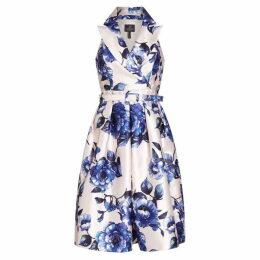 Adrianna Papell Geranium Printed Shirt Dress