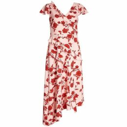 Adrianna Papell Living Blooms Ruffle Fit And Flare Dress