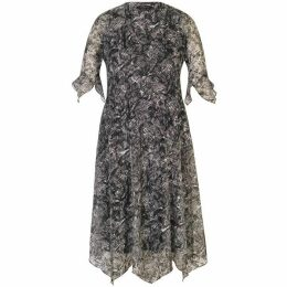 Chesca Printed Lace Jersey Dress