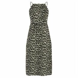 Oasis Animal Square Neck Dress