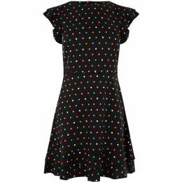 Oasis Multi Spot Skater Dress