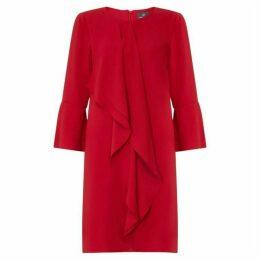 Adrianna Papell Fancy Crepe Cascading Drape Dress