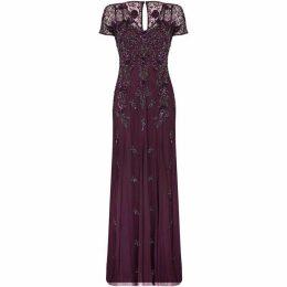 Adrianna Papell Beaded Long Dress