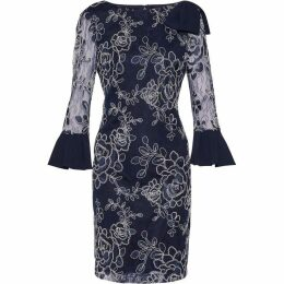 Gina Bacconi Melina Embroidered Dress