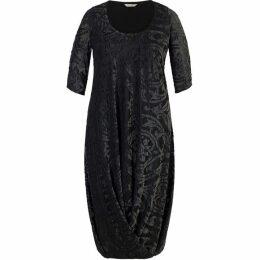 Chesca Foil Print Velvet Burnout Detail Jersey Dress