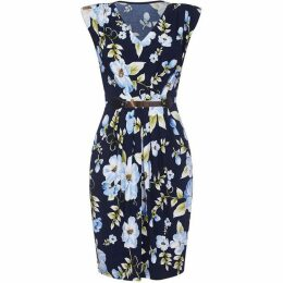 Mela Tropical Floral Belted Dress