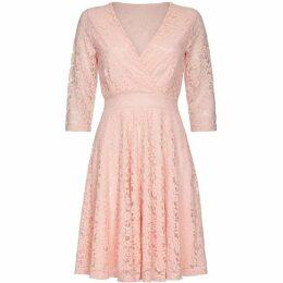 Mela London Curve Floral Lace Skater Dress