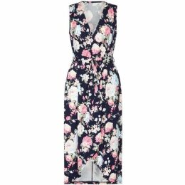 Mela London Curve Floral Printed Wrap Dress