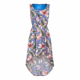 Mela London Curve Tropical Print High Low Dress
