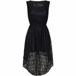 Mela London Curve Floral Lace High Low Dress