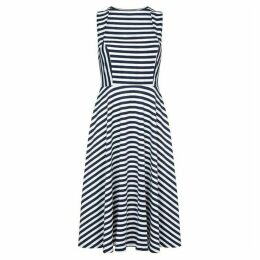 Mela London Curve Stripe Printed Skater Dress