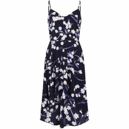 Mela London Curve Floral Printed High Low Dress