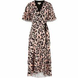 Coast Mila Animal Print Wrap Dress